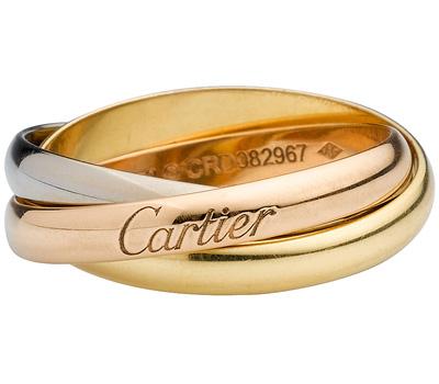 Bague Trinity de Cartier en 3 ors
