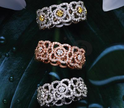 Bagues Enchanted Lotus - De Beers Diamants