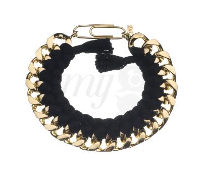 Bracelet Do Brasil Noir et Doré - Aurelie Bidermann