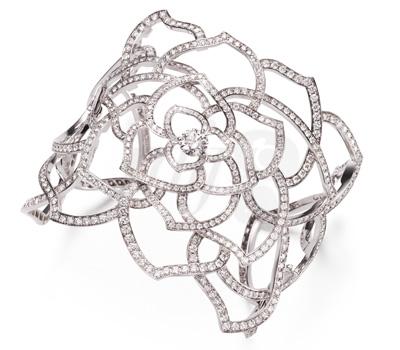 Bracelet Manchette Rose Diamants - Piaget 2012
