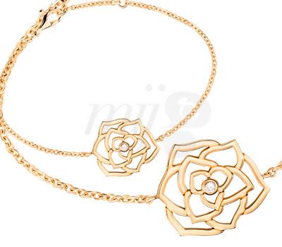 Bracelet Rose Ajourée sur Chainette - Piaget Joaillerie 2012