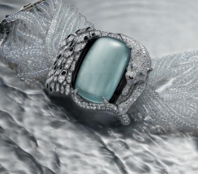 Bracelet Panthère Aigue-Marine - Cartier