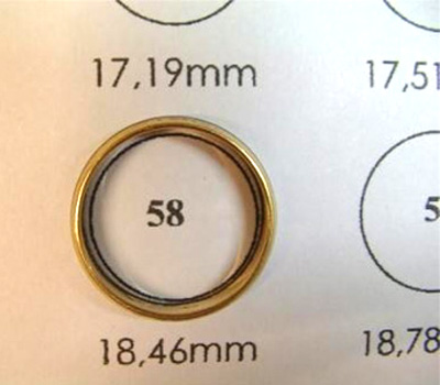 bague homme guide taille