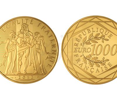 1000 euros Hercule Or Massif - Monnaie de Paris