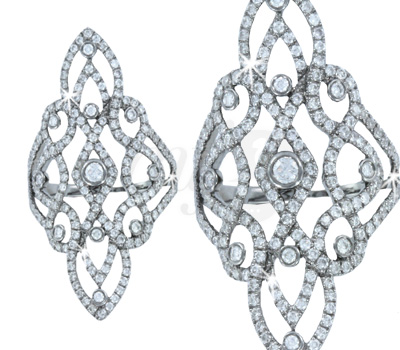 Bague Barque Diamants - Maayane Joaillerie