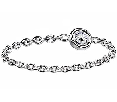 Bague chainette Mimioui avec diamant de Dior joaillerie