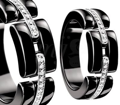 Bague Chanel Ultra 2012 - Céramique Noire Or Blanc Diamants