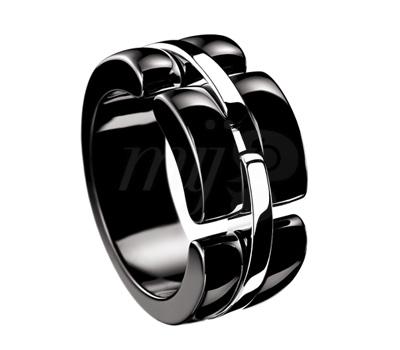 Bague Chanel Ultra 2012 - Céramique Noire Or Blanc