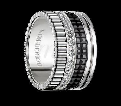 Bague Quatre Black Édition XL Diamants - Boucheron
