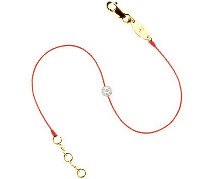 Bracelet diamant sur un fil de nylon rouge de Redline