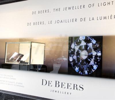 Vitrine De Beers Iris - Galeries Lafayette Haussmann