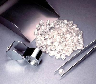 Diamant brut prêt à l'achat