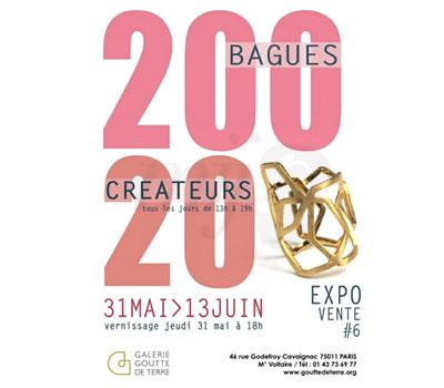 Exposition 200 Bagues , 20 Créateurs - Paris