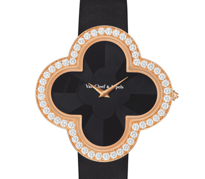 Montre Alhambra Talisman Onyx - Van Cleef & Arpels