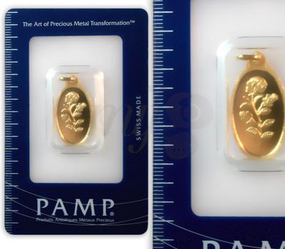 Pendentif Rose PAMP - 24 Carats