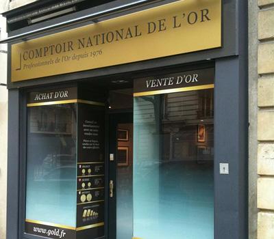 Rachat d'or à Paris au Comptoir National de l'or