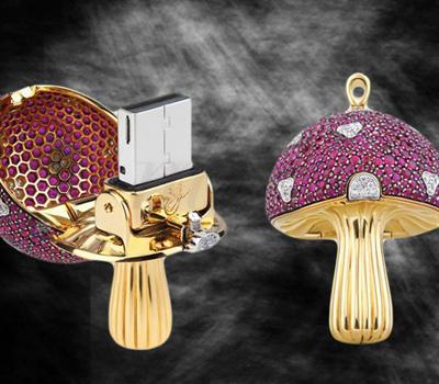 Clé USB Mushroom Rubis Diamants - Shawish