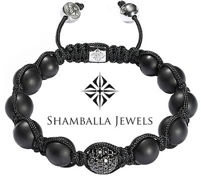 Vrai bracelet Shamballa Jewels noir