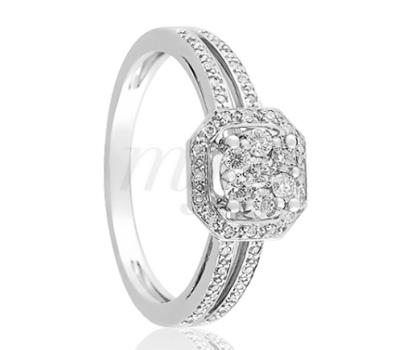 Bague fiançailles Mariage Or Blanc Diamants - Ocarat