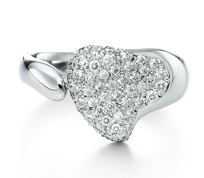 Bague Full Heart Diamant - Tiffany & Co par Elsa Peretti