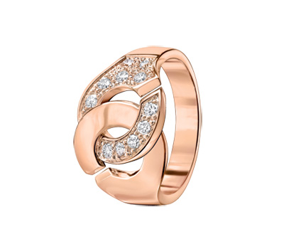 Bague Menotte en or rose et diamants de Dinh Van