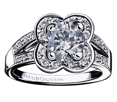 Bague en or blanc Chance of Love de Mauboussin