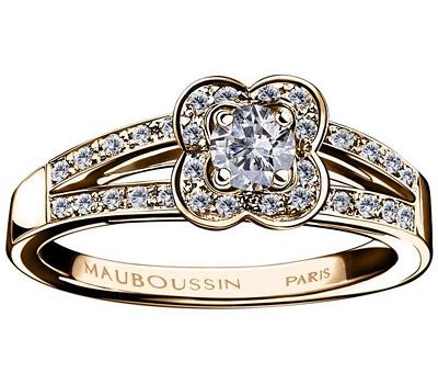 Bague en or rose Chance of Love de Mauboussin