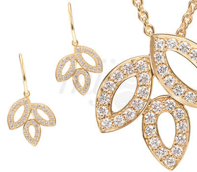 Bijoux Lily Cluster Or Jaune 2012 - Harry Winston