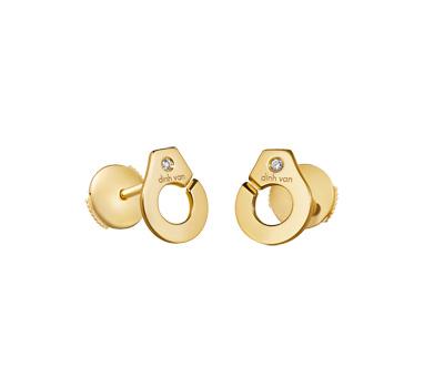 Boucles d'oreilles Menottes en or jaune de Dinh Van