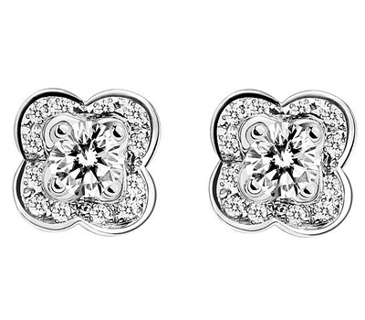Boucles d'oreilles en or blanc Chance of Love de Mauboussin