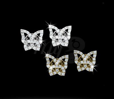Boucles d'Oreilles Papillons - Maayane