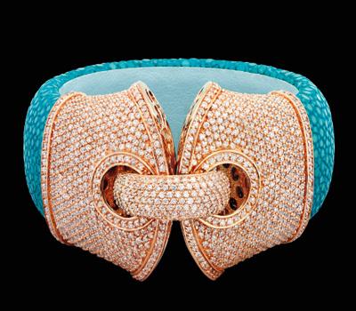 Bracelet Manchette Turquoise - Burma Joaillier