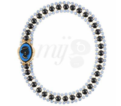 Collier Camée Bleu - Miu Miu Bijoux