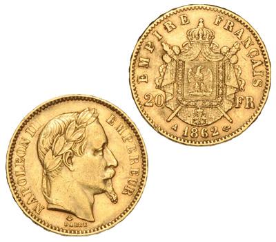 Pièce d'or Napoléon 20 Francs de 1862