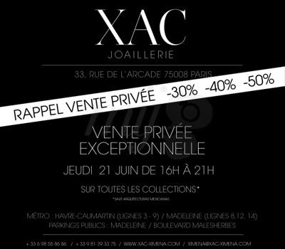 Vente Privée - XAC Joaillerie
