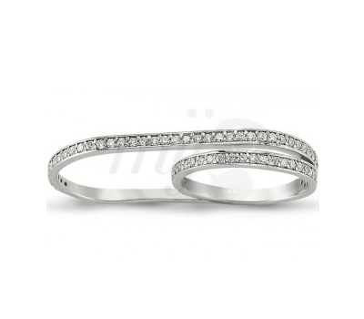 Alliance 2 Doigts Diamants - Fiya Bijoux
