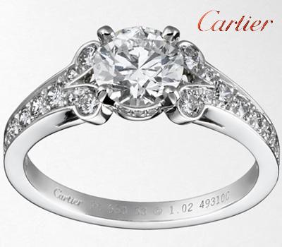 Bague solitaire Ballerine de Cartier