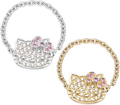Bagues chainette Hello Kitty de Victoria Casal