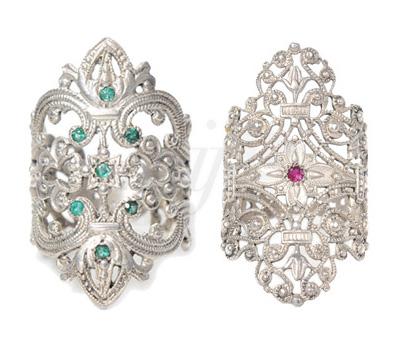 Bagues Les Marquises Émeraude et Rubis - Schade Jewellery