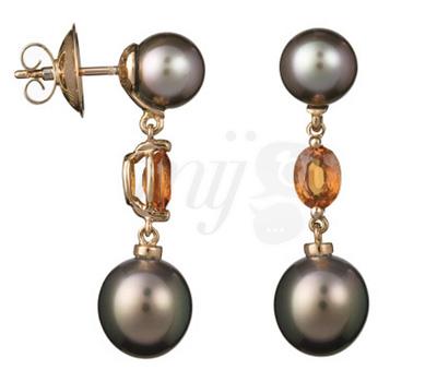 Boucles d'Oreilles Perles de Tahiti Buchwald - Vente Privée