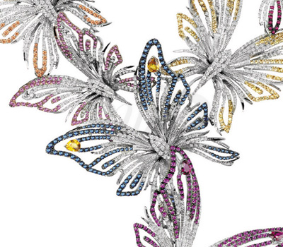 Bouquet Papillons - Collier Butterfly Damiani