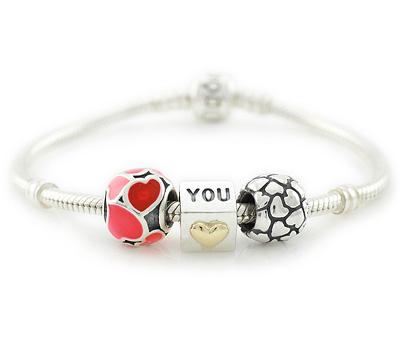 Bracelet charms I Love You de Pandora