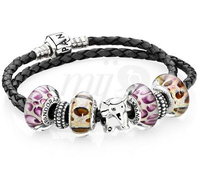Bracelet Pandora Charms Murano Animal