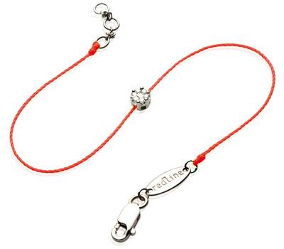 Bracelet Redline sur fil rouge avec des diamants