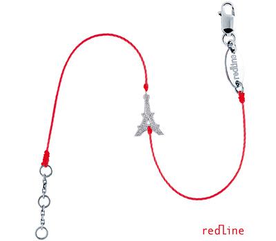 Bracelet Tour Eiffel rouge de Redline