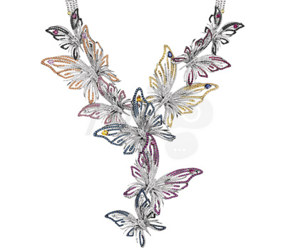 Collier Butterfly Masterpiece - Damiani Joaillerie