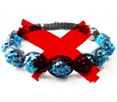 Faux bracelet Shamballa