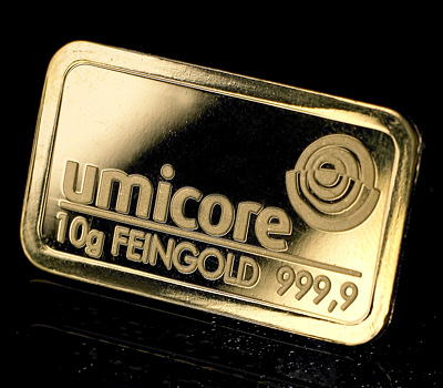 Lingot d'or Umicore de 10g