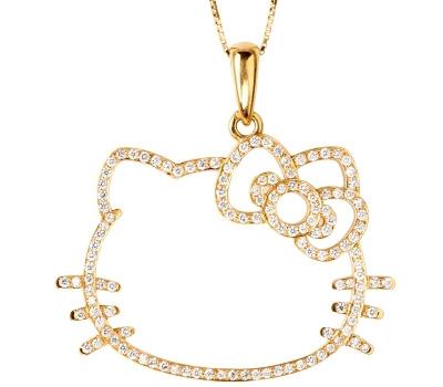 Pendentif Hello Kitty en or et diamants de Victoria Casal