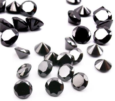 Vrais diamants noirs et pierres précieuses